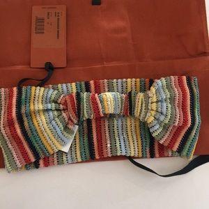 Missoni Metallic Knit Crochet Headband NWT